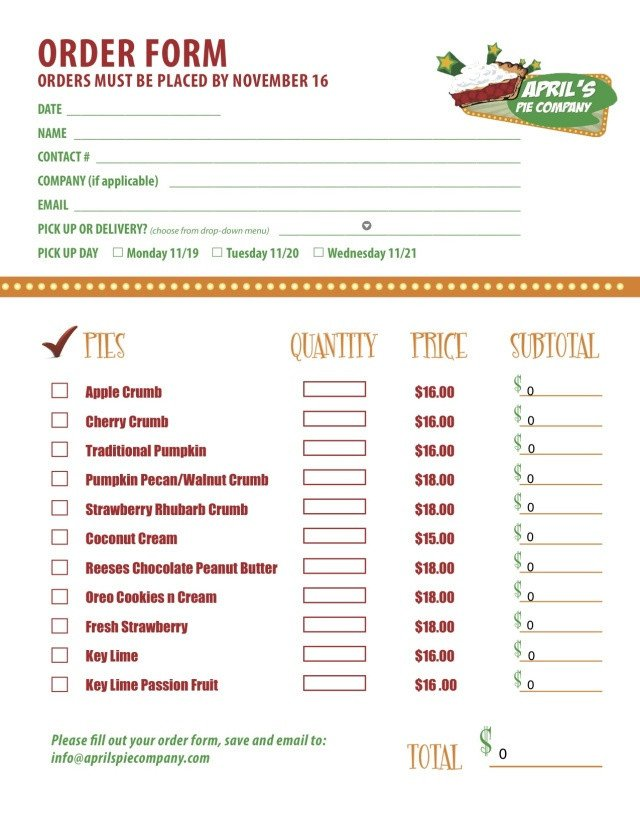 Pizza order form Template Part 2 Of A Custom Menu order form We Created for