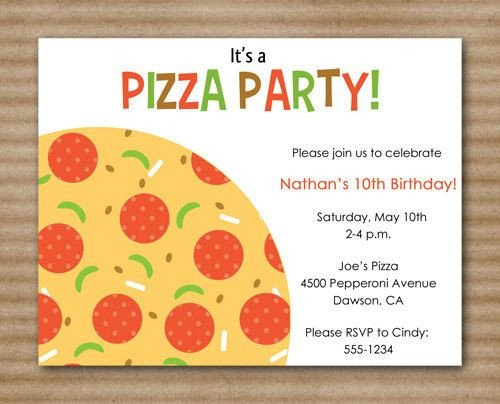 Pizza Party Invite Template 1000 Images About Pizza Party On Pinterest