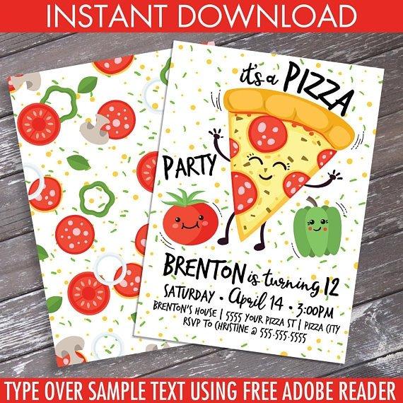 Pizza Party Invite Template 15 Pizza Party Invitation Designs & Templates Psd Ai