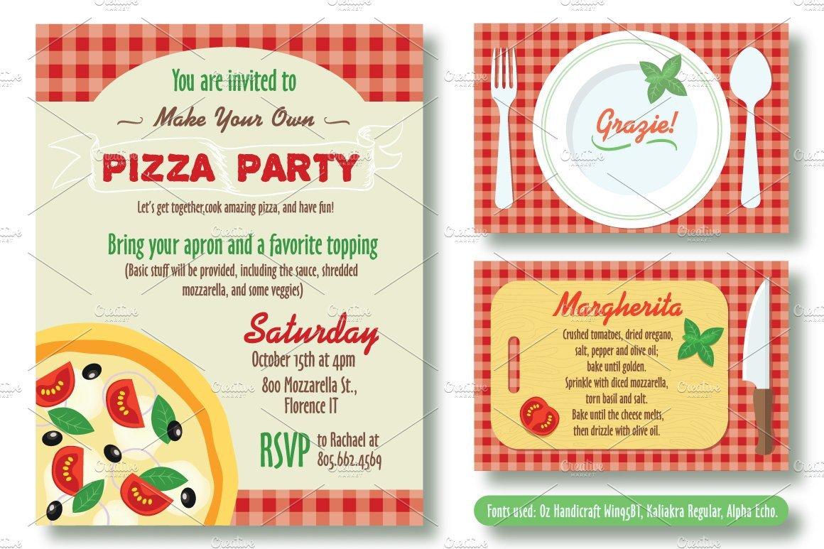 Pizza Party Invite Template Editable Pizza Party Invitation Invitation Templates