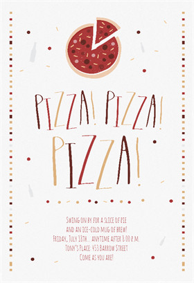 Pizza Party Invite Template Free Party Invitation Templates the Grid System