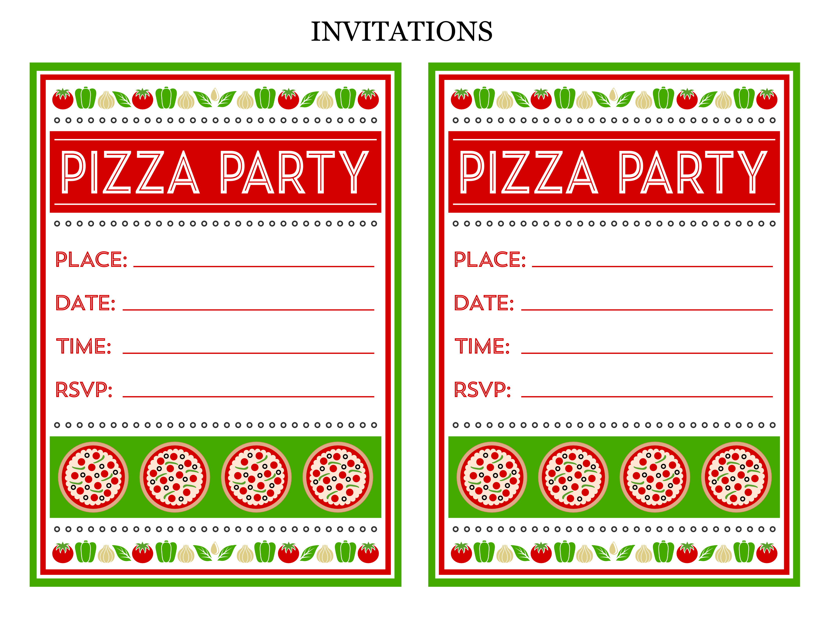 Pizza Party Invite Template Free Pizza Party Printables From Printabelle