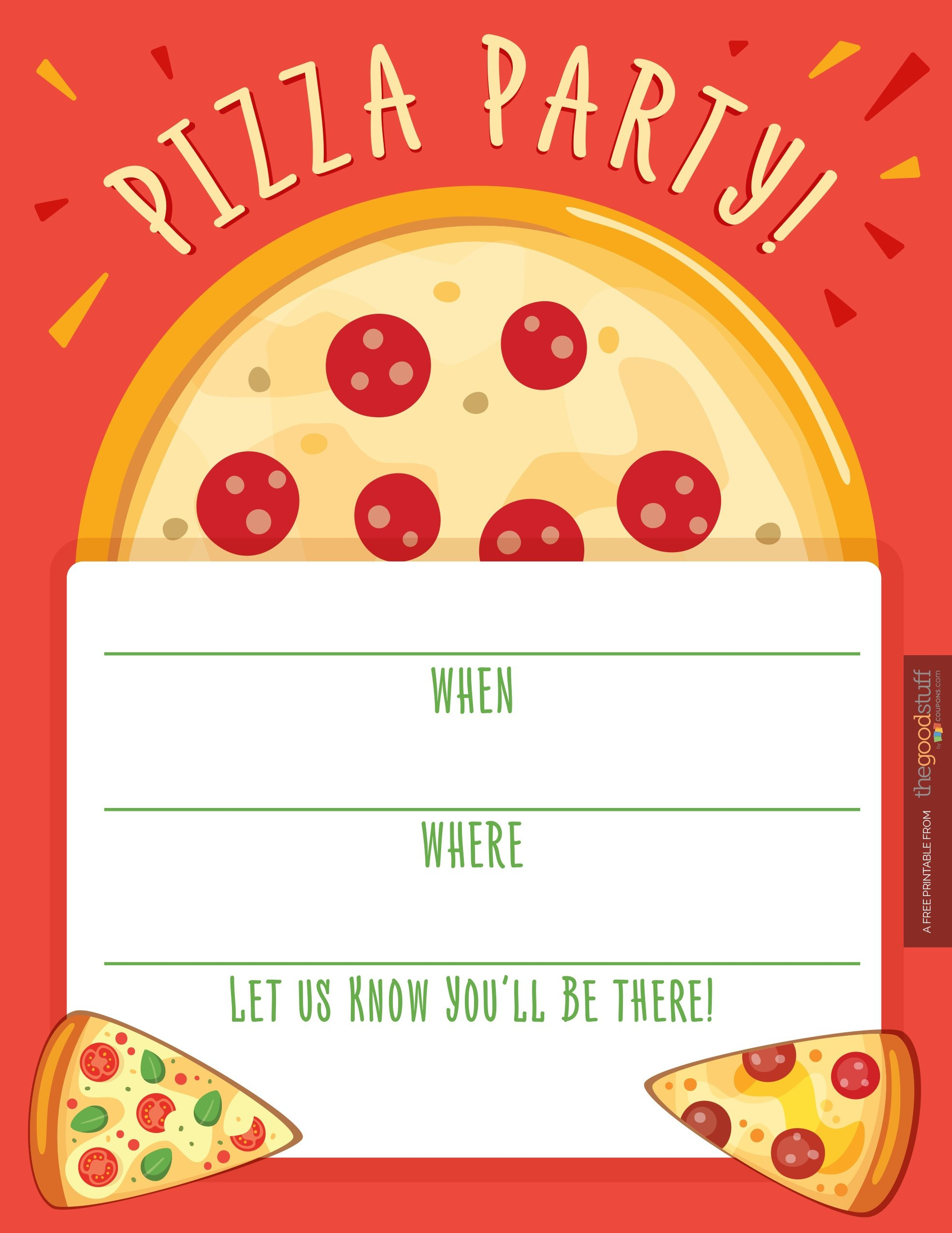 Pizza Party Invite Template Hostess Helpers Free Pizza Party Printables thegoodstuff