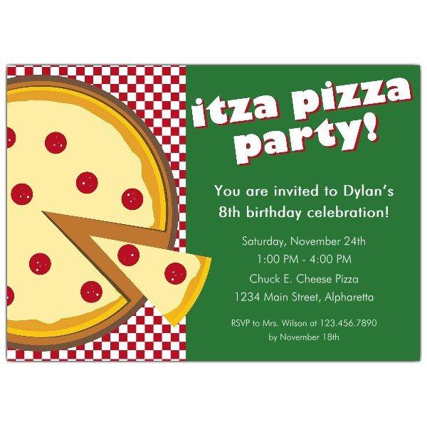 Pizza Party Invite Template Itza Pizza Party Invitations