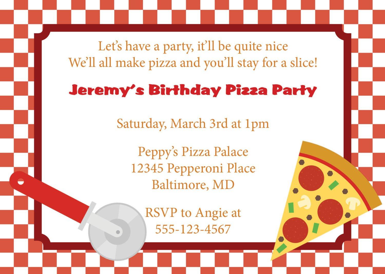 Pizza Party Invite Template Pizza Party Invitation Invite Diy Printable