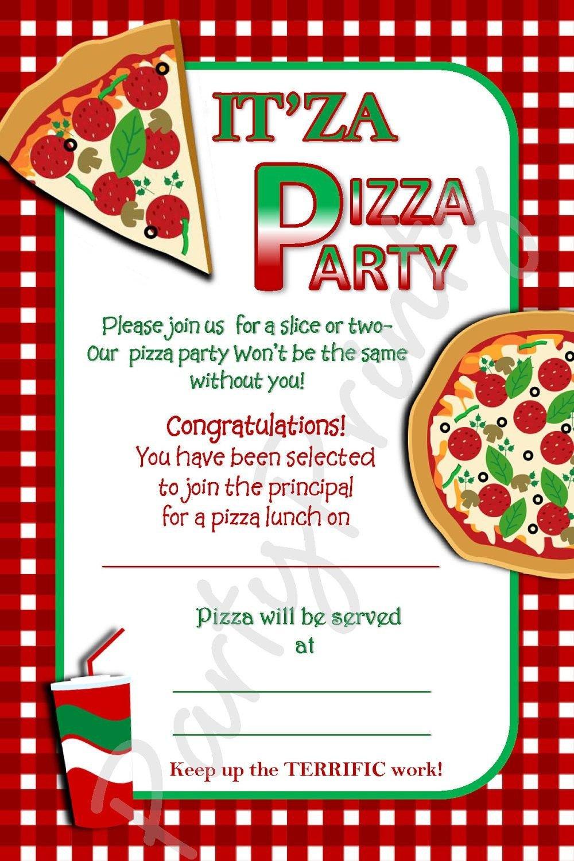 Pizza Party Invite Template Pizza Party Invitation Template Free