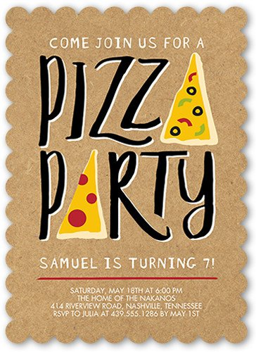 Pizza Party Invite Template Pizza Party Invitations