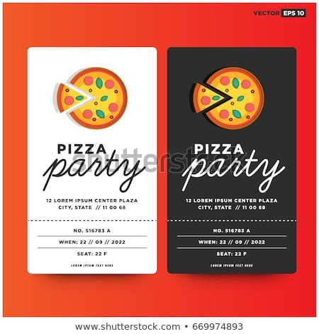 Pizza Party Invite Template Pizza Party Stock Royalty Free & Vectors