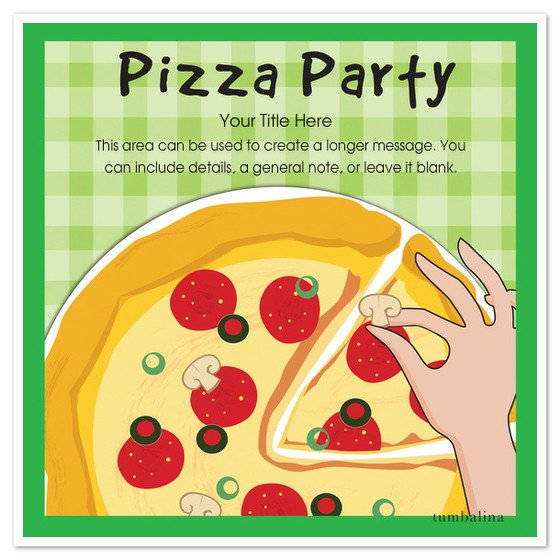Pizza Party Invite Template Pizza Pizza Party Invitations & Cards On Pingg