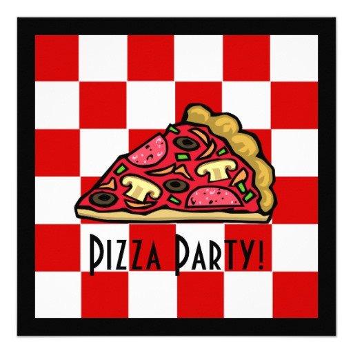 Pizza Party Invite Template Pizza Slice Pizza Party Custom Announcements
