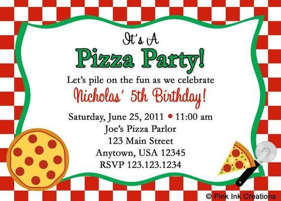 Pizza Party Invite Template Unavailable Listing On Etsy