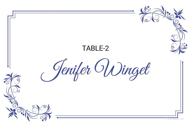 Place Card Template Free 25 Wedding Place Card Templates