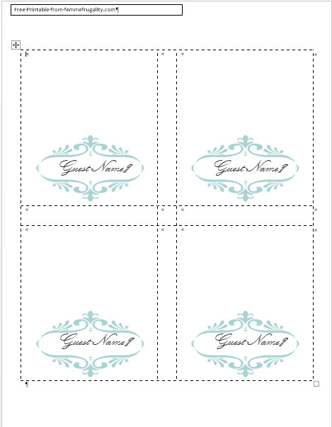 Place Card Template Free How to Make Your Own Place Cards for Free with Word and