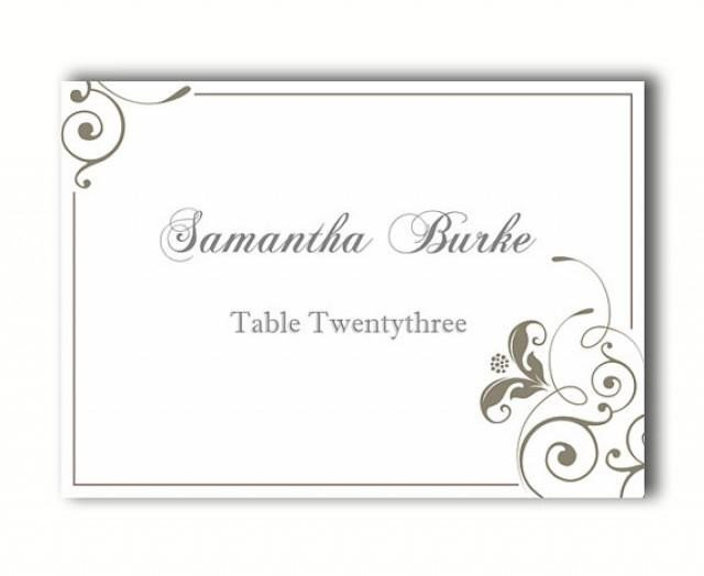 Place Card Template Free Place Cards Wedding Place Card Template Diy Editable