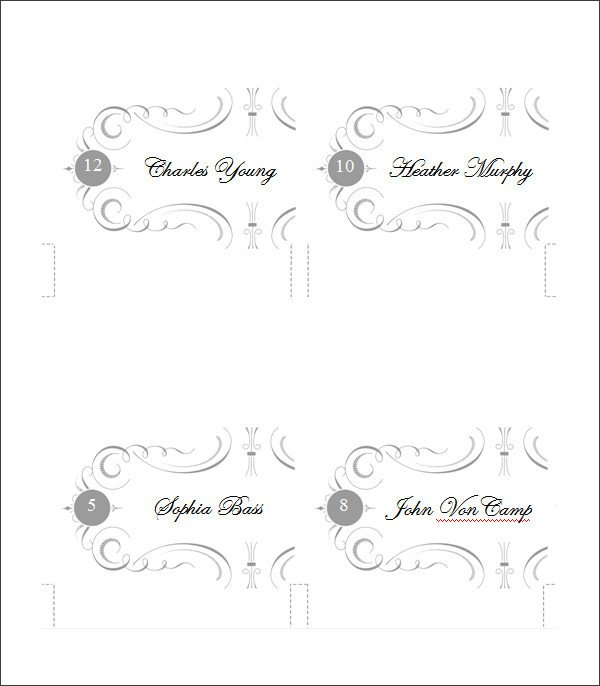 Place Card Template Free Printable Place Cards Template