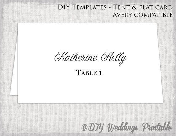 Place Card Template Word Place Card Template Tent & Flat Name Card Templates