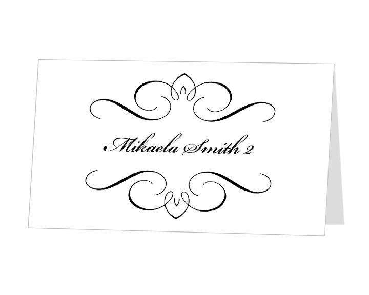 Place Card Template Word Printable Place Card Template Instant Download Escort