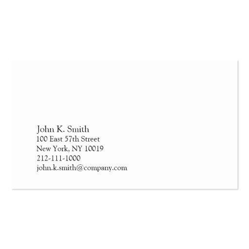 Plain Business Card Template Basic Green I Business Card Template