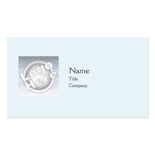 Plain Business Card Template Blue Plain Business Business Card Templates