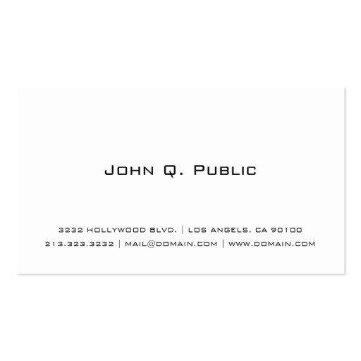Plain Business Card Template Plain Business Cards 4900 Plain Business Card Templates