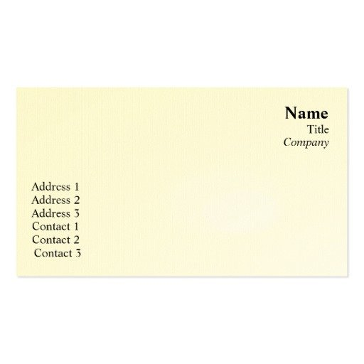 Plain Business Card Template Plain Business Double Sided Standard Business Cards