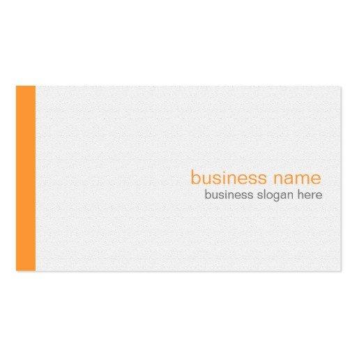 Plain Business Card Template Plain Elegant Modern Simple orange Stripe On White