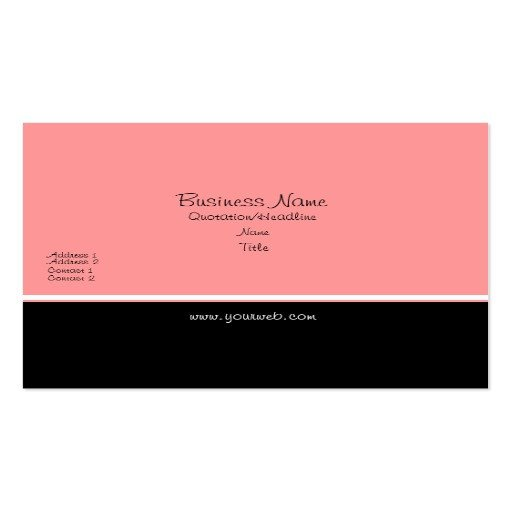Plain Business Card Template Pretty Peach Elegant Trendy Plain Business Card Templates