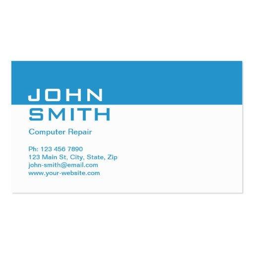 Plain Business Card Template Puter Repair Modern Professional Plain Simple Business
