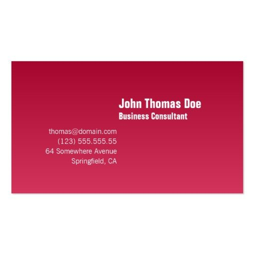 Plain Business Card Template Simple & Plain Professional Business Card Template