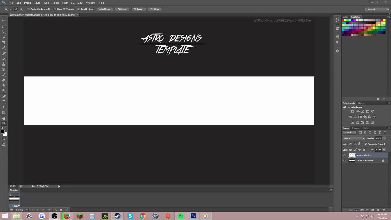 Plain Youtube Banner Template [empty] Youtube Banner Template
