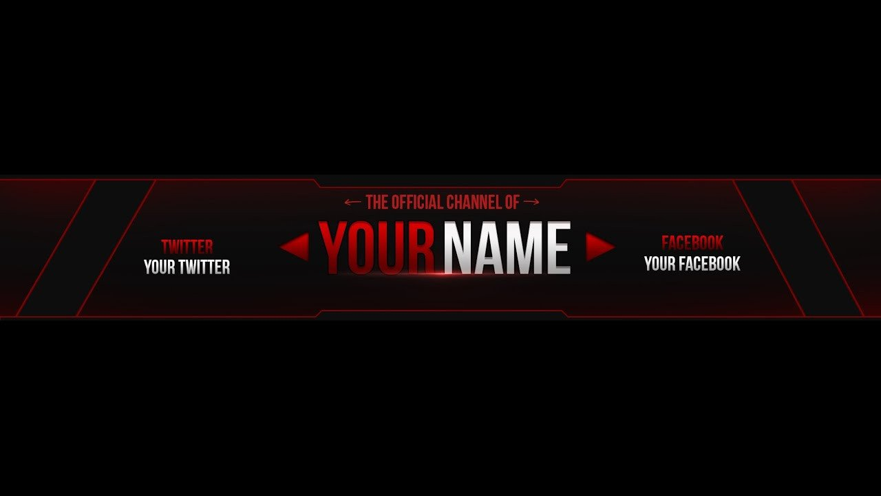 Plain Youtube Banner Template Free Youtube Banner Template Edit Cs6 1