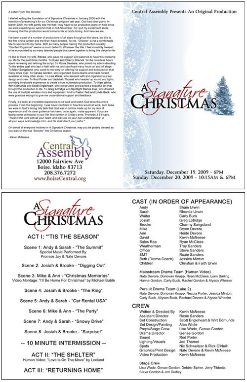 Play Program Template Word A Signature Christmas