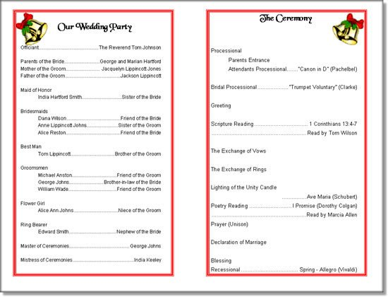 Play Program Template Word Church Program Template