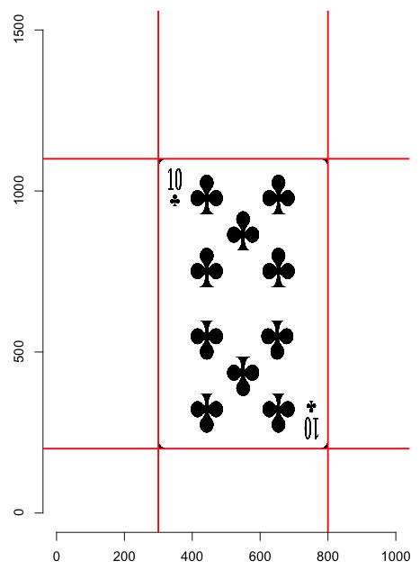 Playing Card Size Template Playing Cards with R