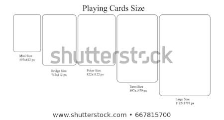 Playing Card Size Template Stock Royalty Free & Vectors