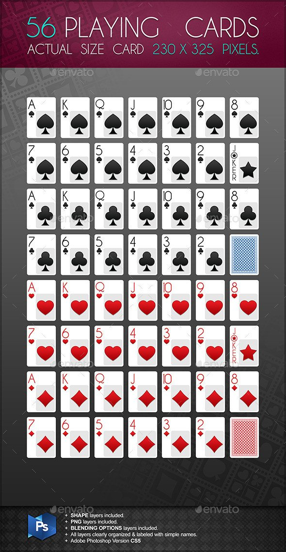 Playing Card Template Photoshop Playing Card Template for Shop Dondrup