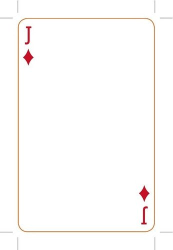Playing Card Template Photoshop Playing Card Template