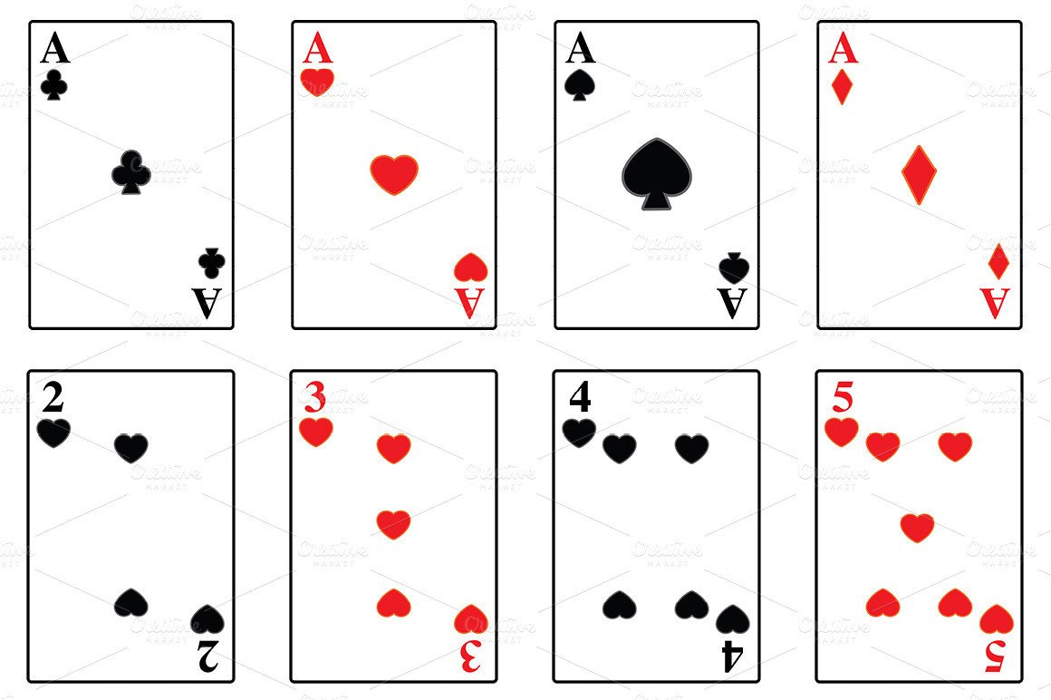 Playing Card Template Photoshop Playing Cards Illustrations On Creative Market