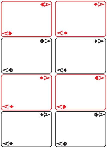 Playing Card Template Photoshop Texas Reading Club Game Ttr 08