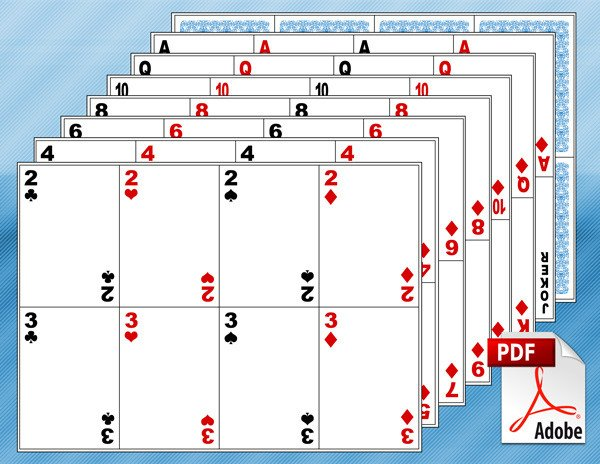 Playing Card Templates Free 10 Free Printable Math Centers