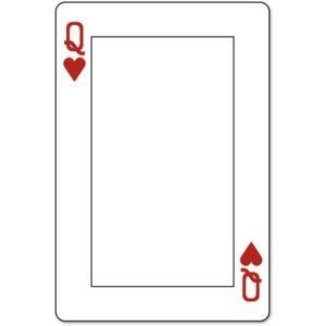 Playing Card Templates Free Playing Card Template Queen Google Search