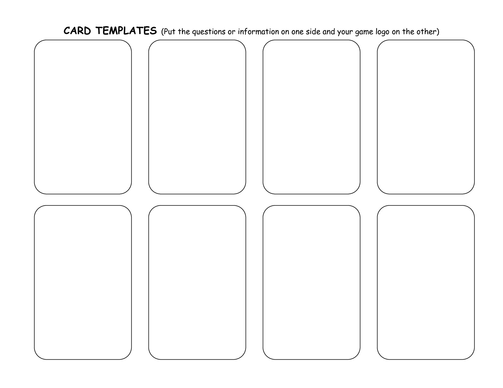 Playing Card Templates Free Playing Card Templates – Emmamcintyrephotography