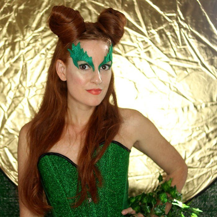 Poison Ivy Eye Mask Template Poison Ivy Costume Eye Mask Diy Gina Michele