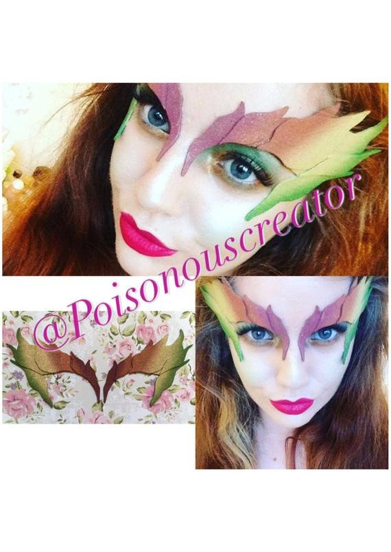 Poison Ivy Eye Mask Template Poison Ivy Eye Mask Ombre
