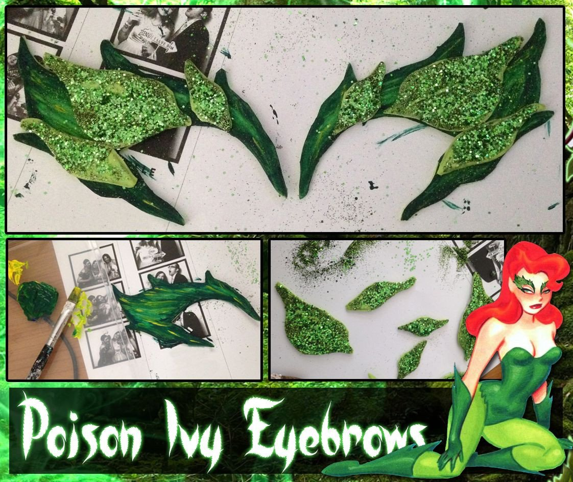 Poison Ivy Eyebrow Template Diy How to Make Poison Ivy Eyebrows