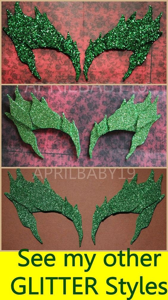 Poison Ivy Eyebrow Template Eyebrows Eyelashes and Poison Ivy Leaves On Pinterest