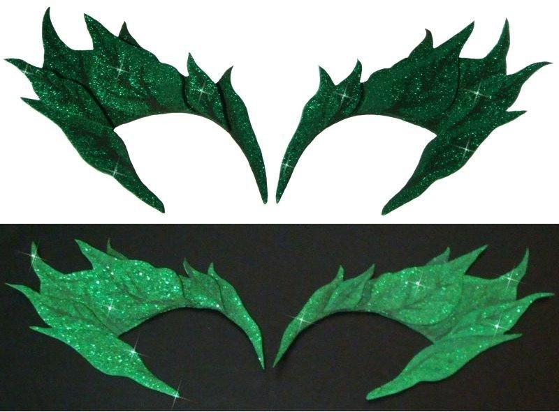 Poison Ivy Eyebrow Template Green Glitter Uma Thurman Poison Ivy Costume Mask $28 99