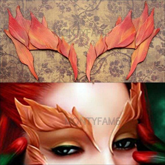 Poison Ivy Eyebrow Template Poison Ivy Autumn Leaves Eyebrow Costume Mask Uma Ic