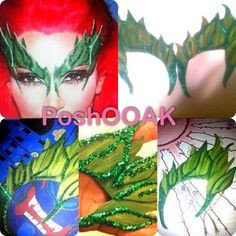 Poison Ivy Eyebrow Template Poison Ivy Eyebrow Mask Tutorial with Template