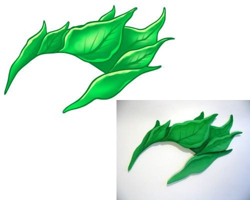 Poison Ivy Eyebrow Template Poison Ivy Eyebrow Piece